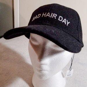 NEW 'BAD HAIR DAY' Soft WOOL Indigo Adjustable Hat